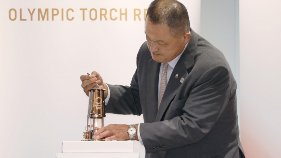 Tokyo Games organizers hold ceremony to open Olympic flame display