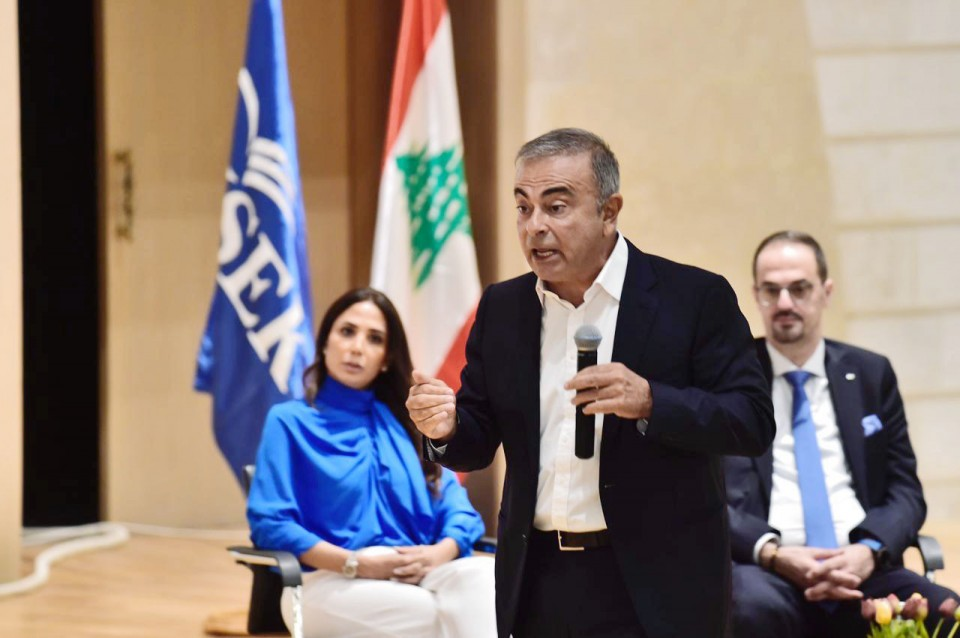 Ghosn pledges aid to troubled Lebanon amid criticism of weak presence