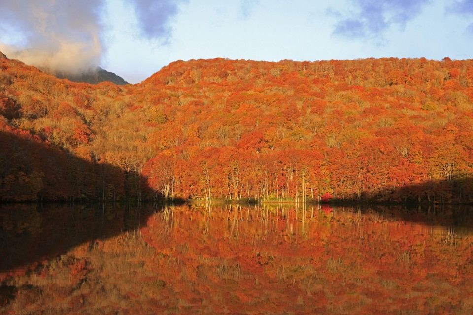 Nature lovers enjoy famed fall foliage in northeastern Japan