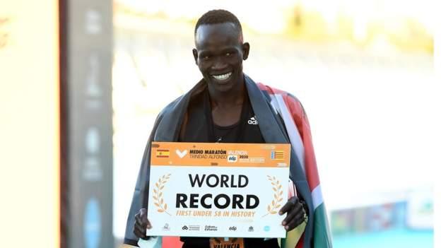 Kenya's Kibiwott Kandie smashes half marathon world record in Valencia