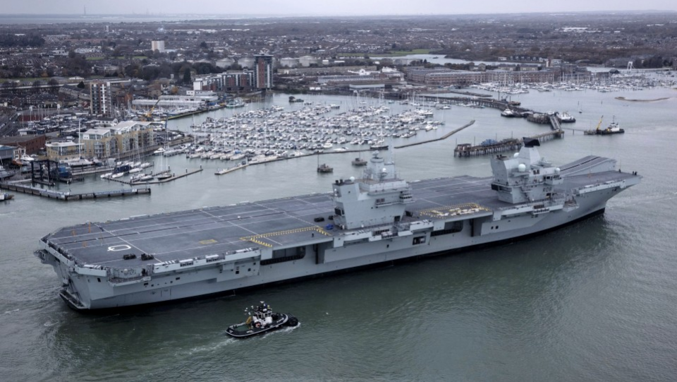 Britain to send aircraft carrier strike group to waters near Japan