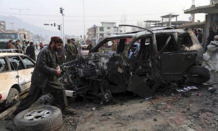 Large car bomb kills as many as nine in Afghan capital