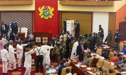 Soldiers storm Ghana's parliament amid chaos over election of speaker