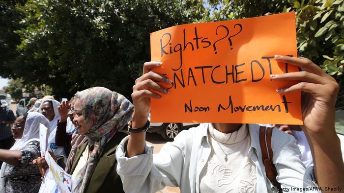 Women protesting in Sudan