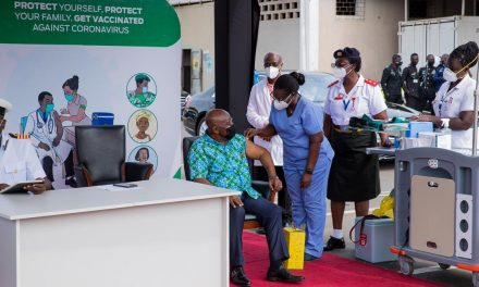 Ghana's President is first leader to take the Covax vaccine