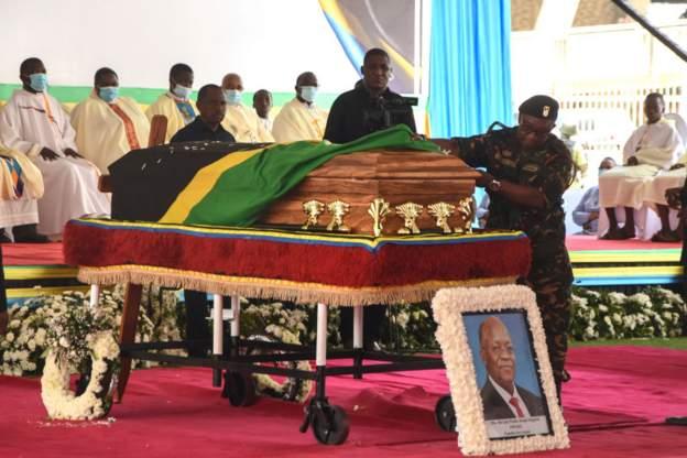 Tanzania's former president John Magufuli buried