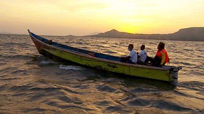 Fisherman in Kenya swap petrol outboard motors for electric engines