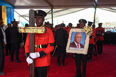 John Magufuli: Tanzania's ex-president buried in home town