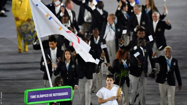 The Olympic Refugee Team at the 2016 Games in Rio