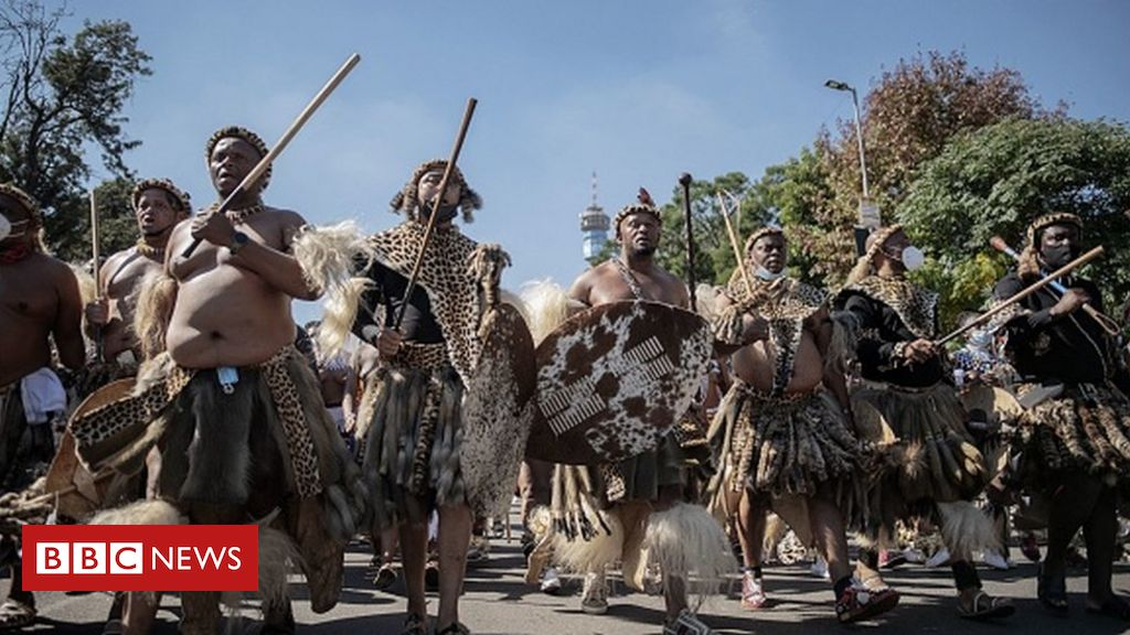 Zulu Queen: Hundreds of mourners hold parade ahead of funeral