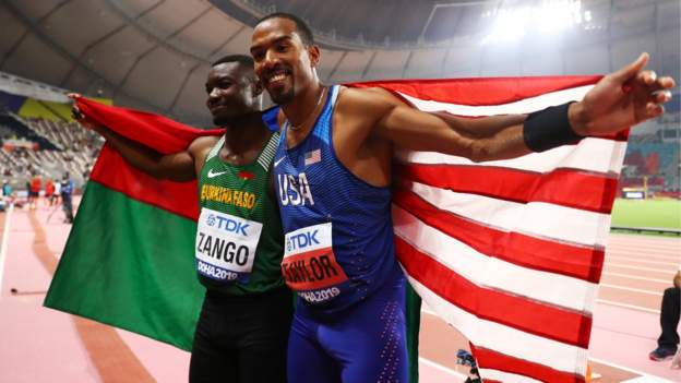Burkinabe triple jumper Hugues Fabrice Zango says he needs to take care after Taylor injury