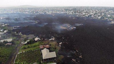 DR Congo's Goma volcano: Drone images show devastation