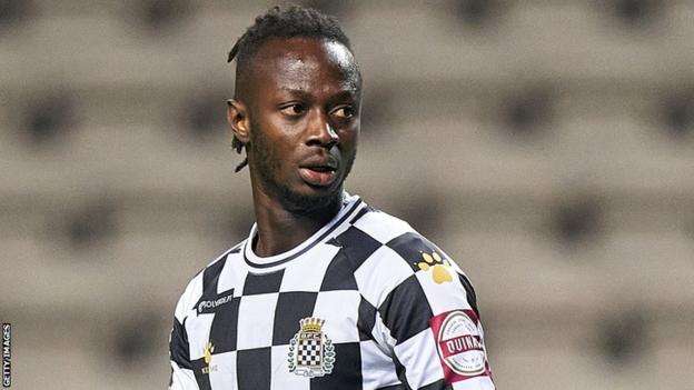 The Gambia's Yusupha Njie playing for Portuguese side Boavista