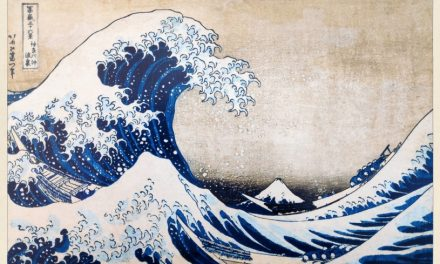 Take in the beauty of Hokusai's wave and then give your verdict on it in Japanese