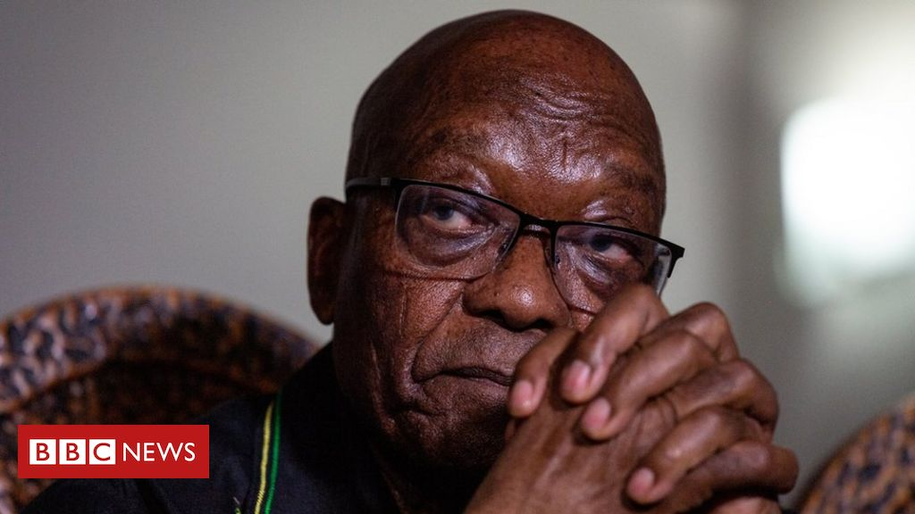 Jacob Zuma: Former president hands himself in to South African police