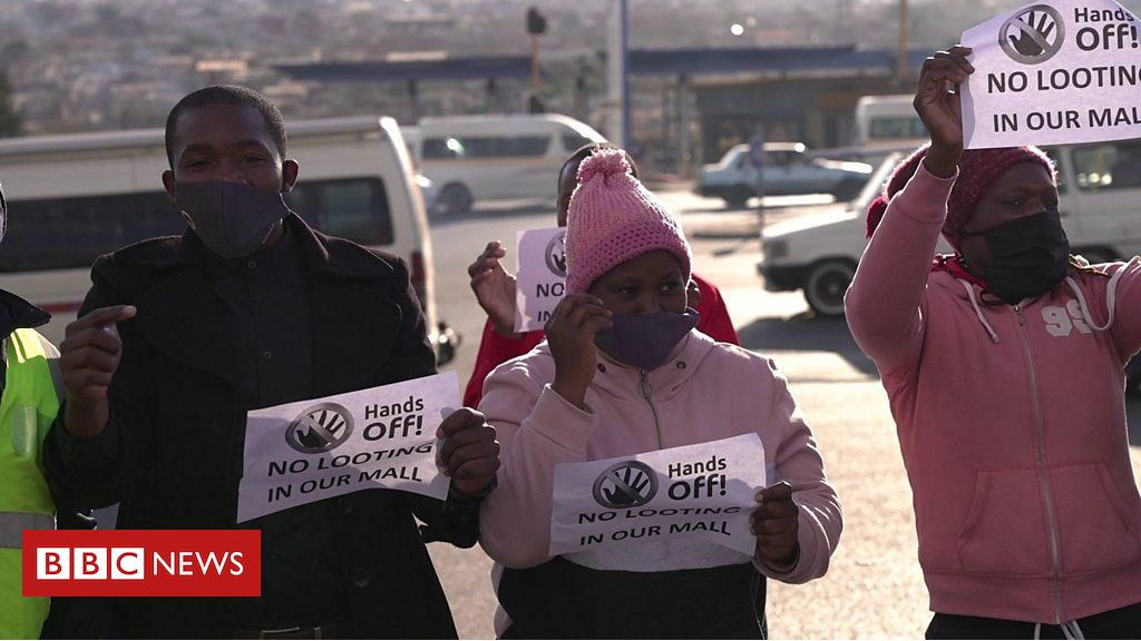 The South African community standing up to looters