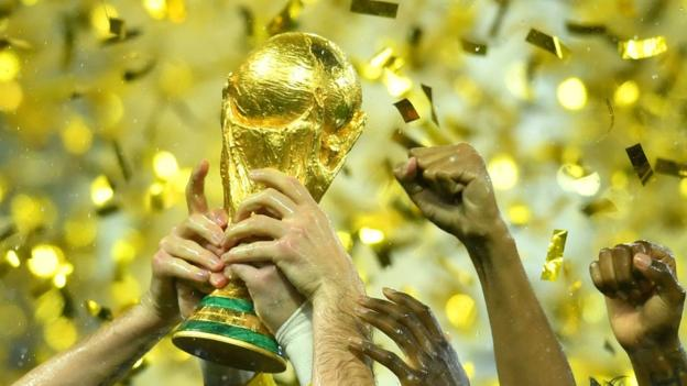 The World Cup trophy