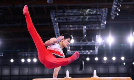 Japanese men grab silver in gymnastics team competition