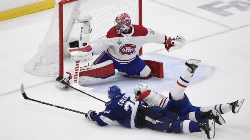 Blake Coleman's diving goal leads Lightning to 2-0 lead in Stanley Cup Final