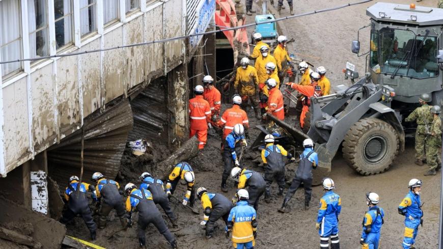 Number of missing in Japan mudslide narrowed to 24 from 64