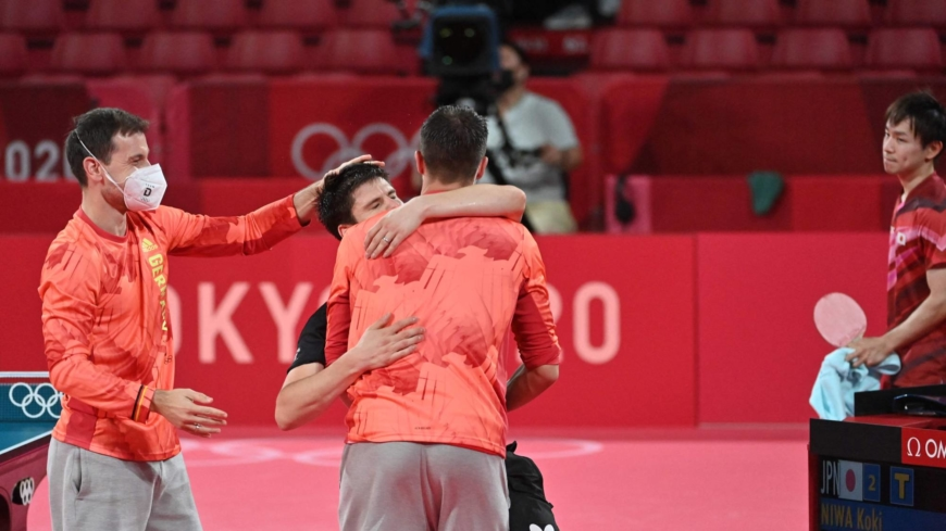 Japan ousted by Germany in table tennis men's team semifinals