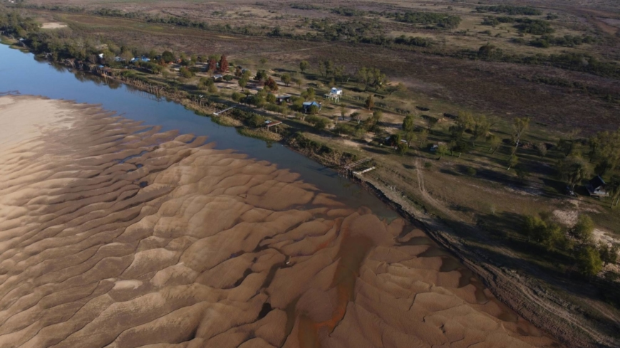 The Argentine river that carries soybeans to the world is drying up
