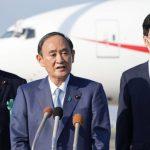 Suga departs for 'Quad' summit in Washington